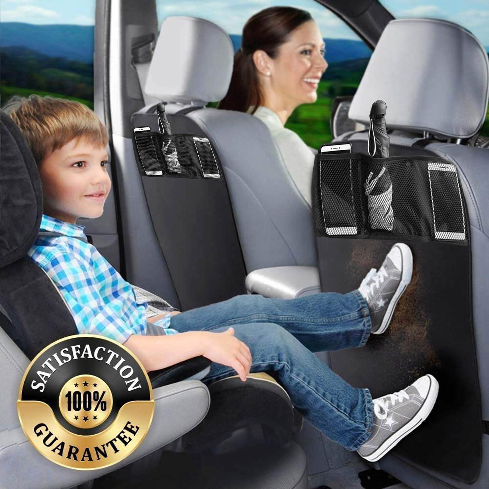 Car Seat Back Protector Cover for Children Babies Kick Mat P