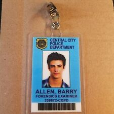 Flash ID Badge-Central City Barry Allen Forensics Examiner Cosplay prop costume