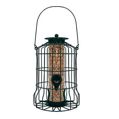 Gray Bunny GB-6860 Caged Tube Feeder, Squirrel Proof Wild Bird Feeder, Outdoor