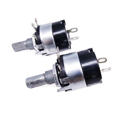 Us Stock 2pcs 10k Ohm B10k Linear Potentiometer Onoff Switch Wh137-2 Rv137-2