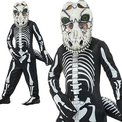T Rex Costume For Boys (T-Rex Skeleton Costume Halloween Scary Boys Childrens Fancy Dress)