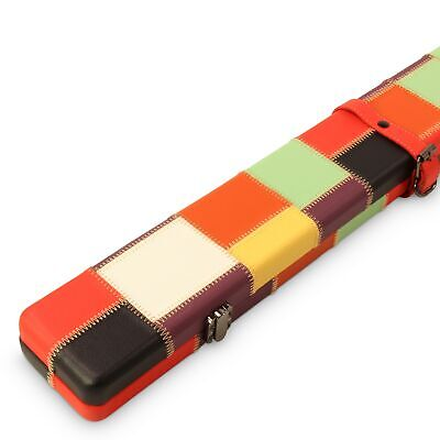 Baize Master 3/4 Luxury HARLEQUIN PATCH Cue Case with Round Corners and Straps
