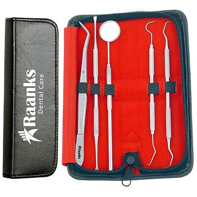 Dental Tooth Cleaning Kit Dentist Scraper Pick Tool Calculus Plaque Floss Set