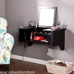 Wall Mount Bathroom Bedroom Vanity Ledge Mirror Furniture Table Cabinet HZ758