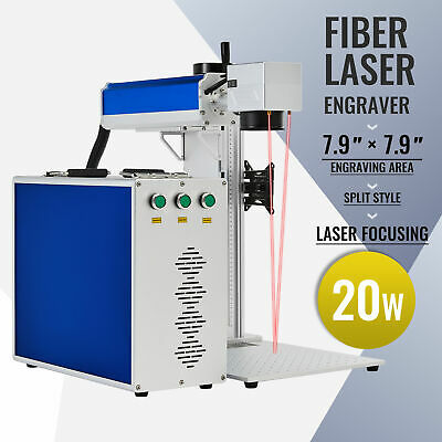 Raycus Fiber Laser Marking Machine F Metal Laser Marker Engraver 7.9x 7.9 20w