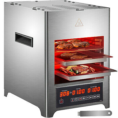 Vevor Electric Oven Steak Meat Grill Baking Machine Broiler Commercial 3 Trays