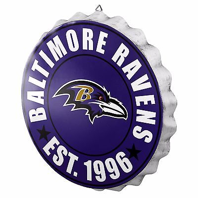 Baltimore Ravens Bottle Cap Sign - Est 1996 - Room Bar Decor NEW 13.5