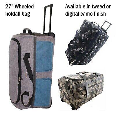 27 Digital Tarnfarbe Qualität Gepäck Reisetasche mit Rollen Tweed Koffer Digitale Reise-tasche