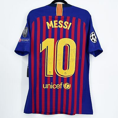 b63150762 2018-19 Barcelona Player Issue Home Shirt  10 MESSI Champions League M  Jersey
