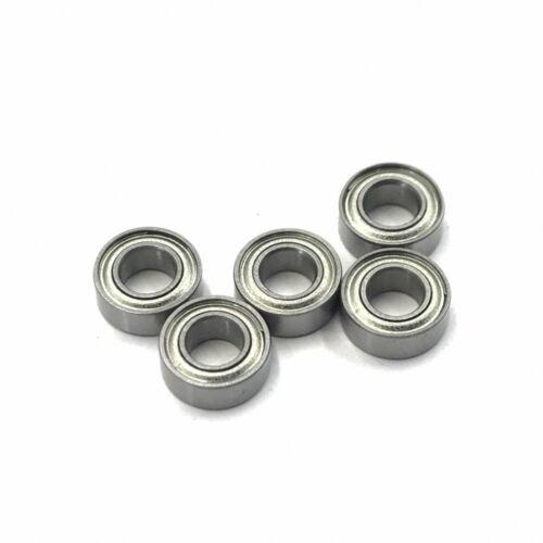 5 PCS F6700ZZ 10x15x4mm Miniature Metal Bearing Flanged Ball Bearing