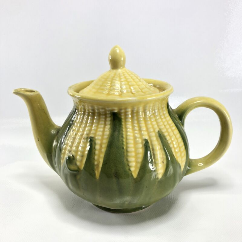 Shawnee Pottery Corn King Teapot with Lid #75 Vintage