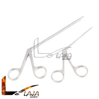 2 Hartman Alligator Ear Forceps Serrated 3.5 5.5ent Surgical Instruments New