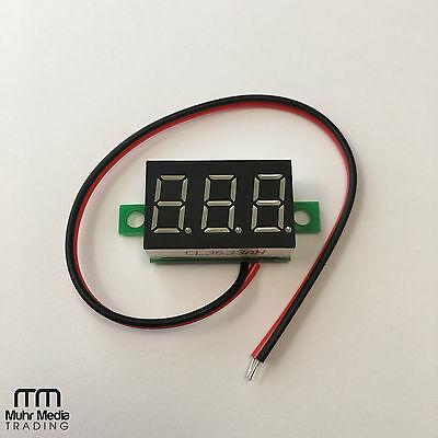 LED Mini Voltmeter 4,5 - 32V Spannunganzeige (22mmx14mm) LED-Farbe: Rot
