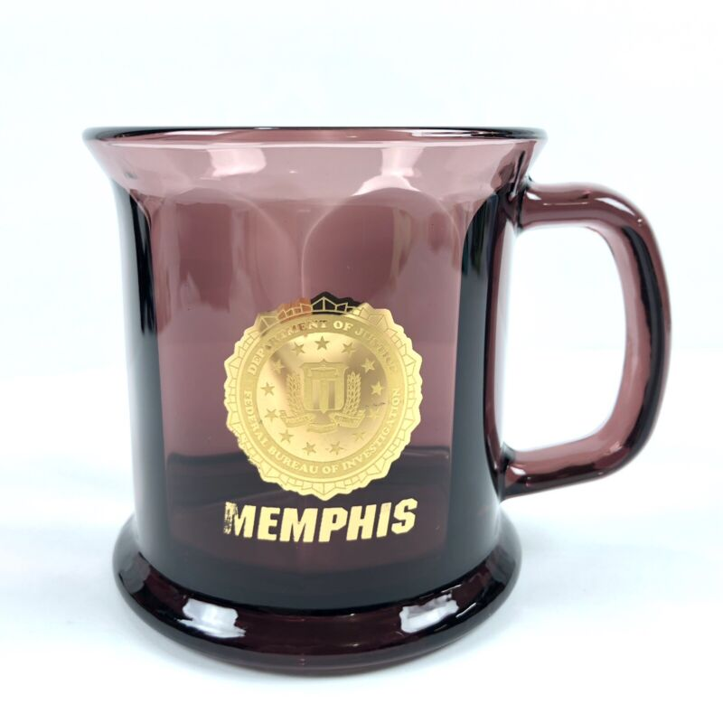 FBI Memphis Coffee Mug Cup Department of Justice Federal Bureau Of Investigation