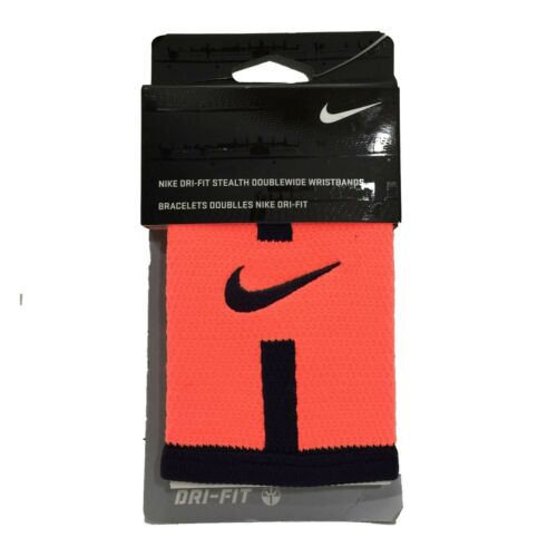 Nike Dri-FIT Stealth Doublewide Wristbands OSFM Bright Mango / Purple Dynasty