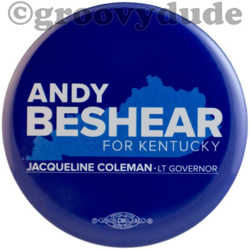 Andy Beshear For Governor Coleman Official KY 2019 Campaign Pin Pinback Button