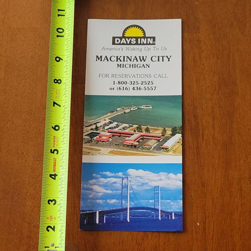 DAYS INN MACKINAW CITY MICHIGAN ADVERTISMENT CARD BROCHURE
