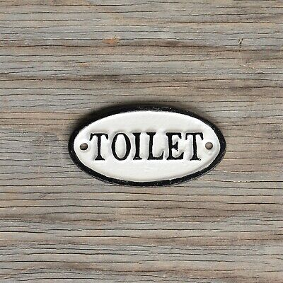 Cast Iron Toilet Sign by HomArt