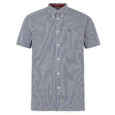 SCONTO 40% MERC LONDON CAMICIA TERRY GINGHAM MANICA CORTA XS XL XXL CASUAL MODS