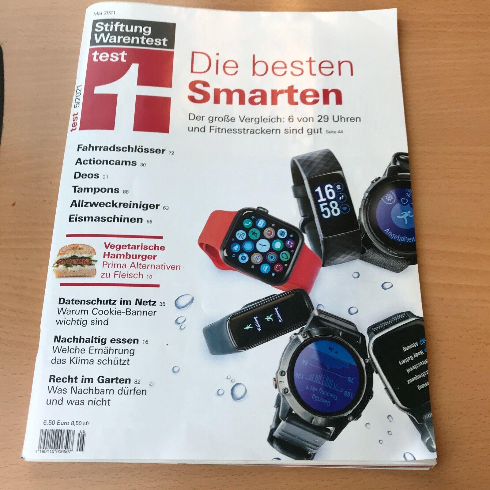 Stiftung Warentest Zeitschrift Test Ausgabe Mai 2021 5/2021 Fitnesstracker