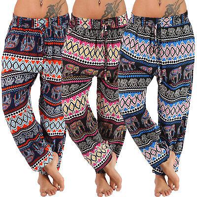 Indische Jeans (Leichte Sommer Hose Elefant Indisch Harem Aladin bunt Freizeit Ali Baba Pumphose)