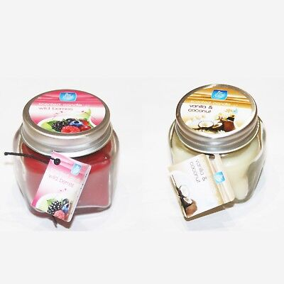 - Pan Aroma Glass Jar Scented Candle Wild Berries Vanilla Coconut