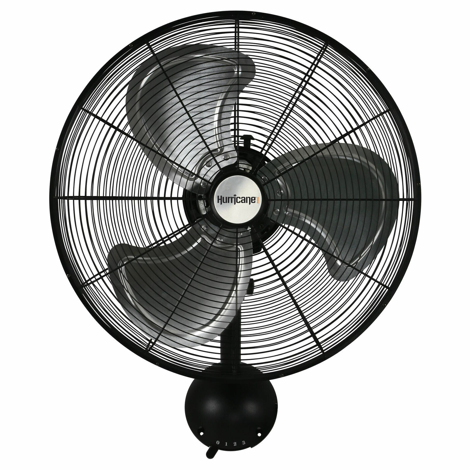 Hurricane Pro High Velocity Oscillating Metal Wall Mount Fan