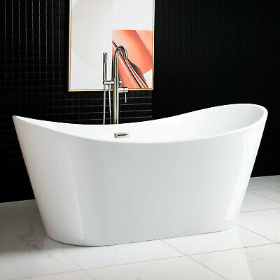 Woodbridge 67''  Freestanding Bathtub B-0010 with Brushed Nickel overflow& drain