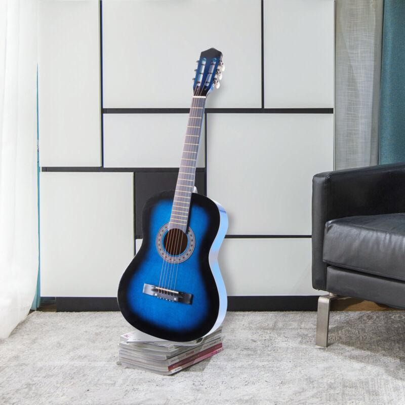 4/4 Gitarre Konzertgitarre Klassikgitarre Akustikgitarre Guitar mit Tasche blau