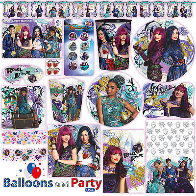 Disney Princess Descendants 2 Birthday Party Tableware Decorations Supplies - Disney Princess Party Decor