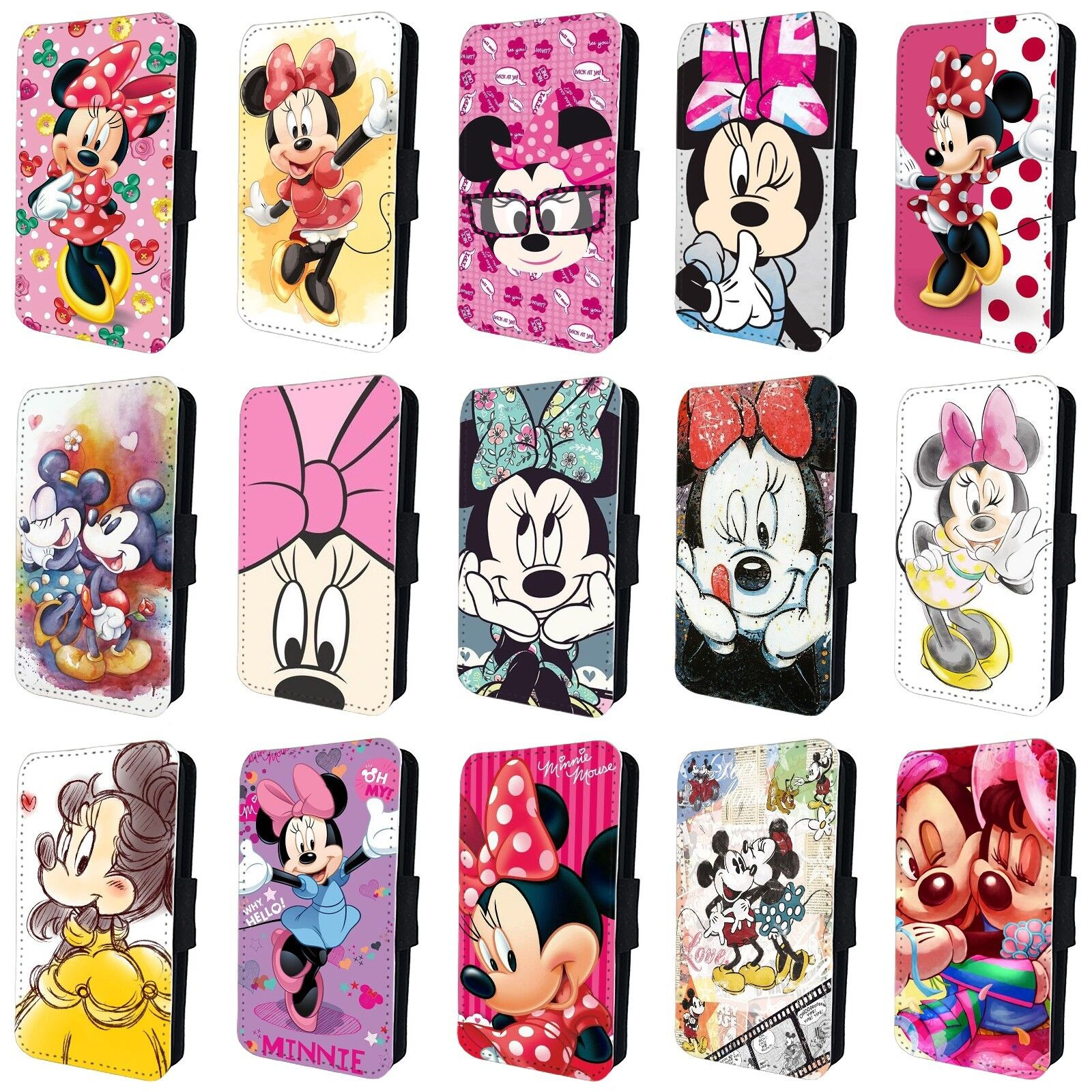 online store dac3f 799e5 MINNIE MOUSE DISNEY FLIP PHONE CASE COVER for SAMSUNG GALAXY S5 S6 S7 S8 S9