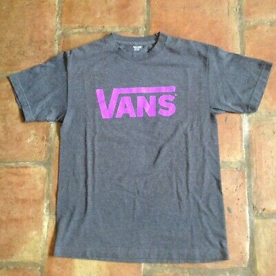VANS Graphic T Shirt In Charcoal Size M