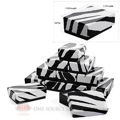 12 Zebra Print Cotton Filled Gift Boxes 1 78 X 1 14 Jewelry Ring Charm Box