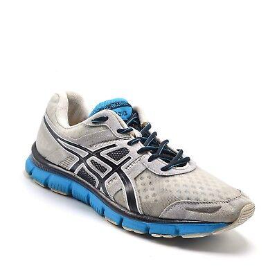 ASICS Gel Blur 33 Mens Sz 9.5 Running Cross Training Shoe White Blue (Asics Gel Blur 33 Mens Running Shoe)