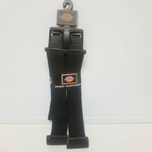 NEW Dickies Men's Perry Adjustable Suspenders - Black