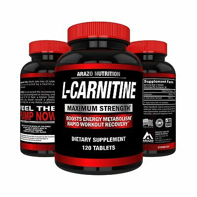 L-Carnitine 1000mg Servings 120 Tablets Carnitine Amino Acid Arazo Nutrition USA, used for sale  Bainbridge Island