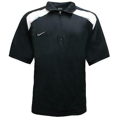 Nike Mens Polo T-Shirt Casual Half Zip Black Top 736970 011