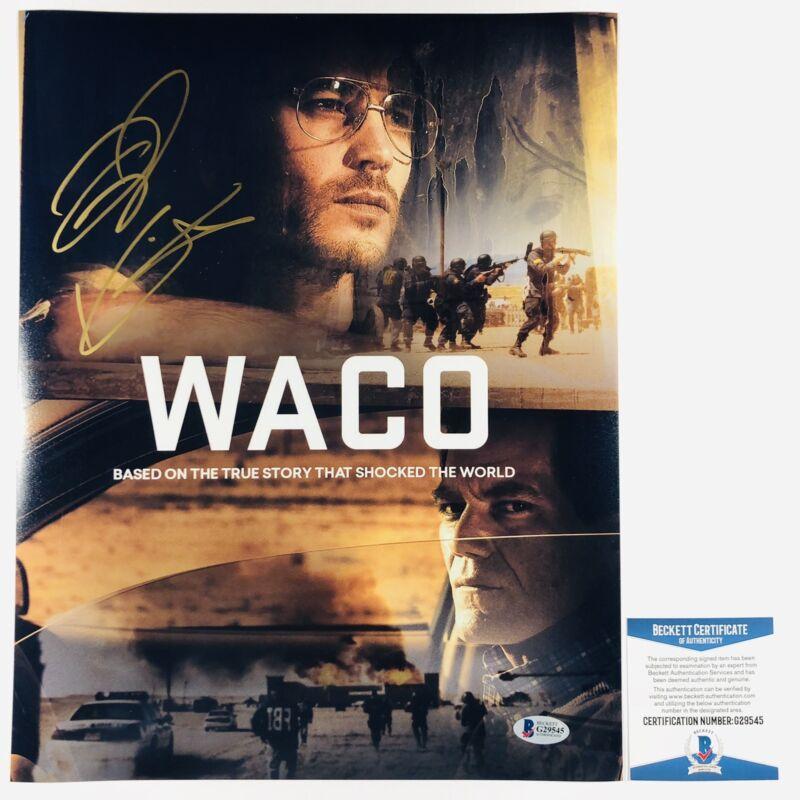TAYLOR KITSCH SIGNED WACO 11x14 PHOTO AUTHENTIC BECKETT BAS COA #G29545