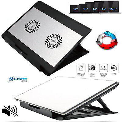 Quiet 2 Fans Gaming Laptop Cooling Cooler Stand Pad For 12″ to 15.6″ Notebook PC