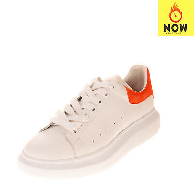 RRP €475 ALEXANDER MCQUEEN Leather Sneakers EU43 UK9 US10 Two Tone Made in Italy