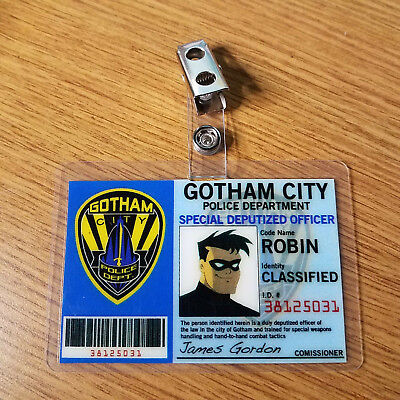 Batman Id Badge-Gotham Stadt Robin Animierter Cosplay - Robin Cosplay Kostüm Batman