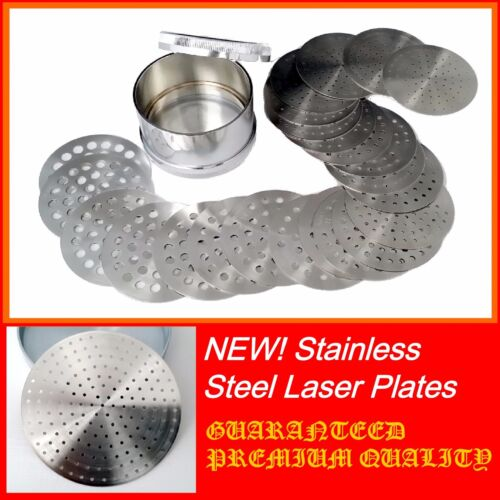 "Diamond Sieves  2"" 47mm  23 plates 000 to 20 Stainless Steel Laser Holes PIERRES"