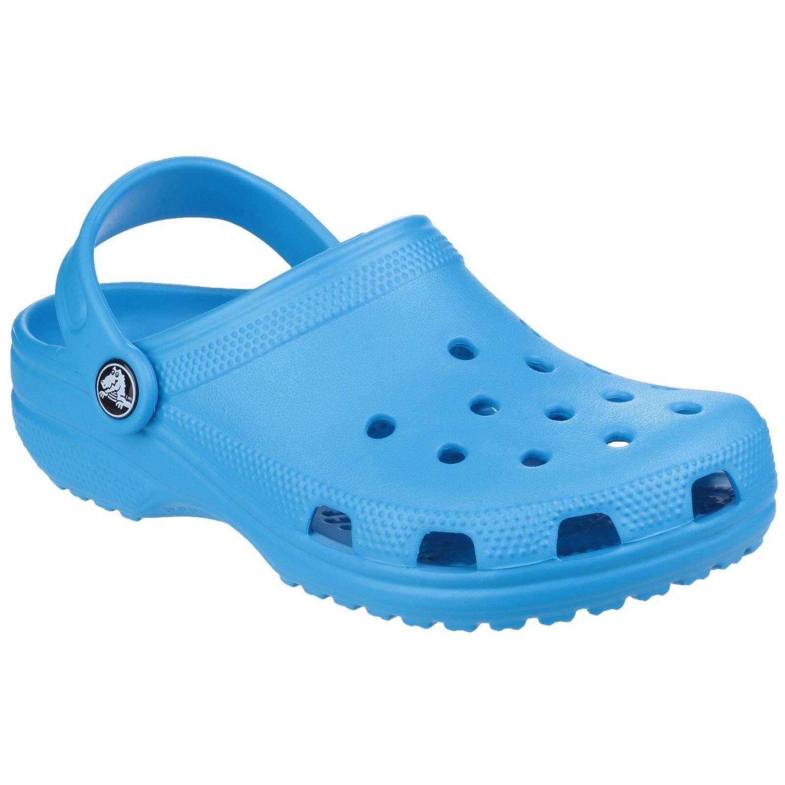 12f51af231e24 Crocs Classic Clogs Childrens Croslite Lightweight Kids Boys Girls Shoes  Sandals