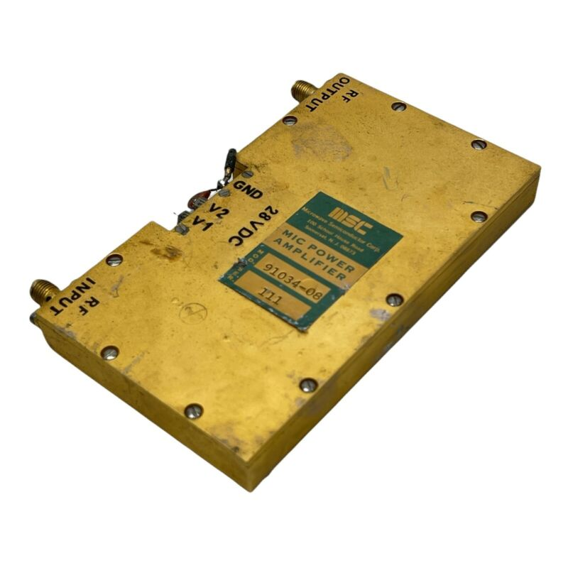 MICROWAVE SEMICONDUCTOR CORP MIC POWER AMPLIFIER 91034-08 GOLD PLATED