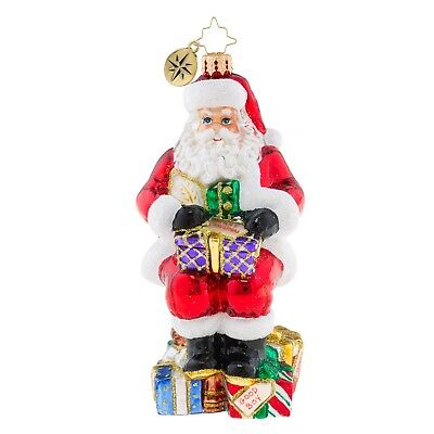 [Christopher Radko Ornaments - SANTA BEARING GIFTS Christmas Ornament 1019212</Title]