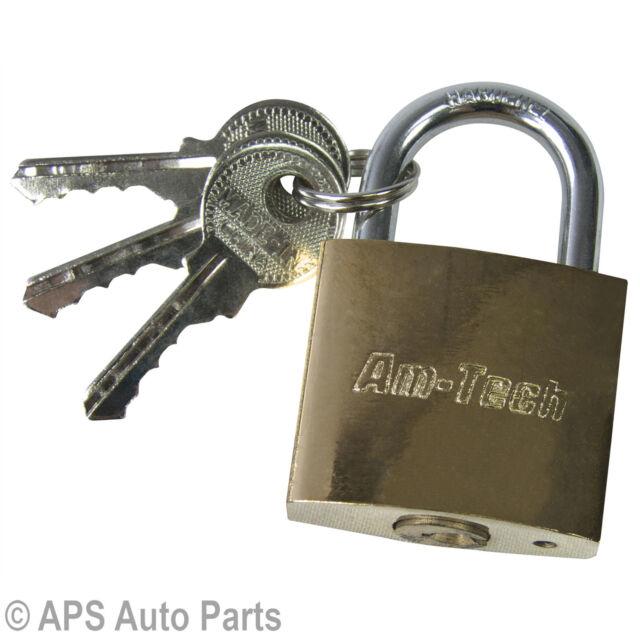 New Heavy Duty 32mm Security Padlock Lock Garage Door Shed Outdoor With 3 Keys