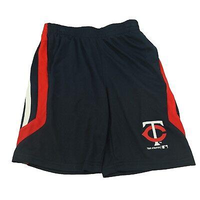 MLB Minnesota Twins Kids Youth Medium Striped Athletic Shorts New With Pockets  - Mlb Kids Shorts