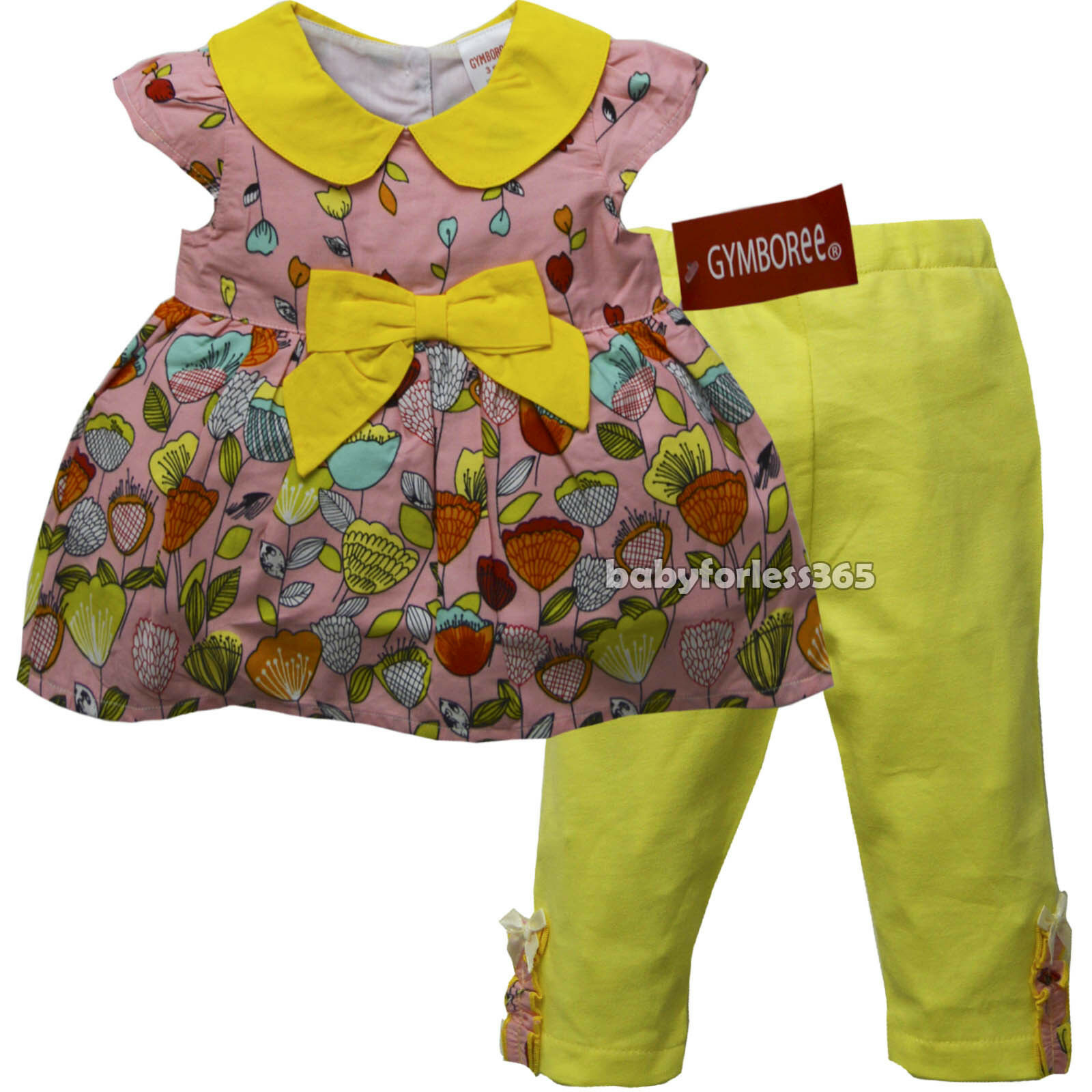 7259cd3729892 Details about New Gymboree Baby Girls Outfit 2 pc Shirt legging Size 3 6 9 12  18 24 months