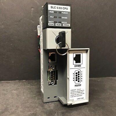 Allen Bradley 1747-l531 Ser E 1747-os302 Ser C Slc 500 503 Cpu Processor 8k Plc
