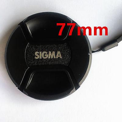 Bouchon cache de remplacement + Dragonne lens cap 77mm pour Objectif Sigma